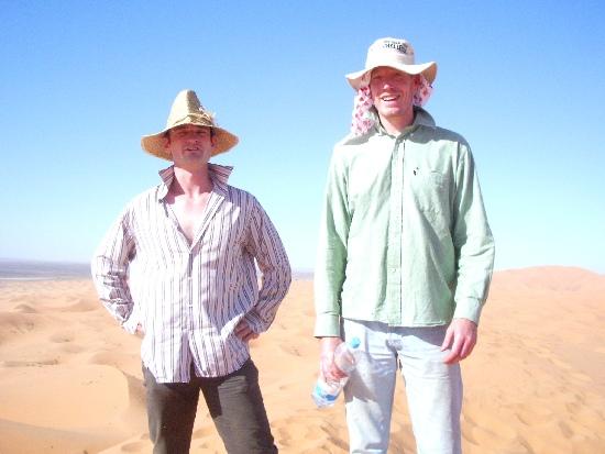 In het zand in Marokko